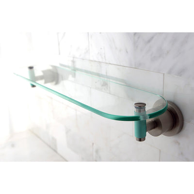 "Kingston Green Eden Satin Nickel Bathroom Accessory: 20"" Glass Shelf BA8219SNDGL"