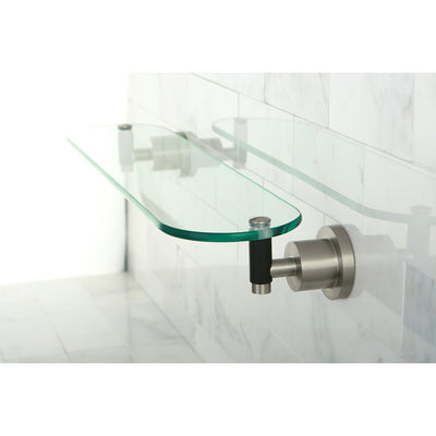 Kingston Tempered Bathroom Glass Shelves Satin Nickel Glass Shelf BA8219SNDKL