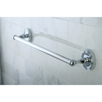 "Kingston Brass Chrome Georgian 18"" single towel rack bar BA9312C"
