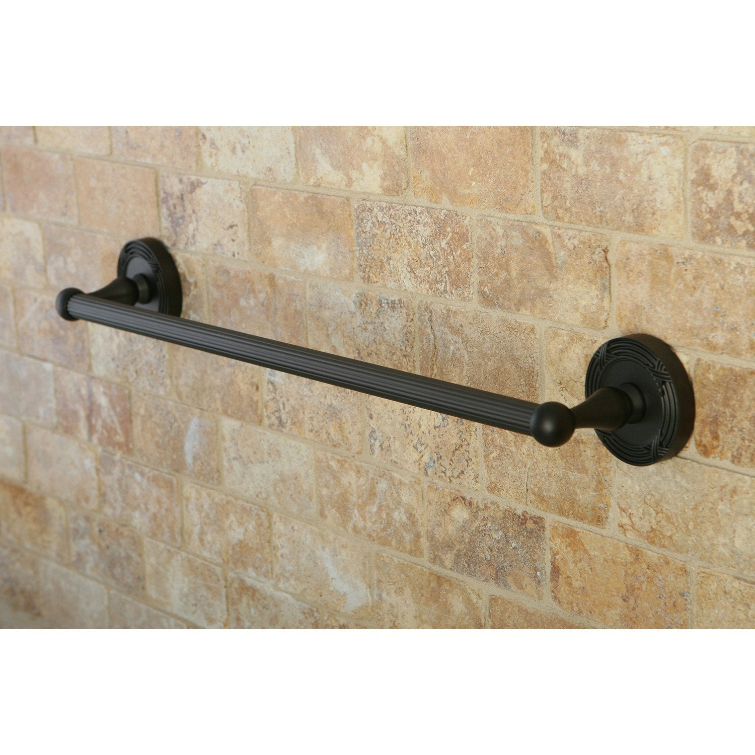 "Kingston Brass Oil Rubbed Bronze Georgian 18"" single towel rack bar BA9312ORB"