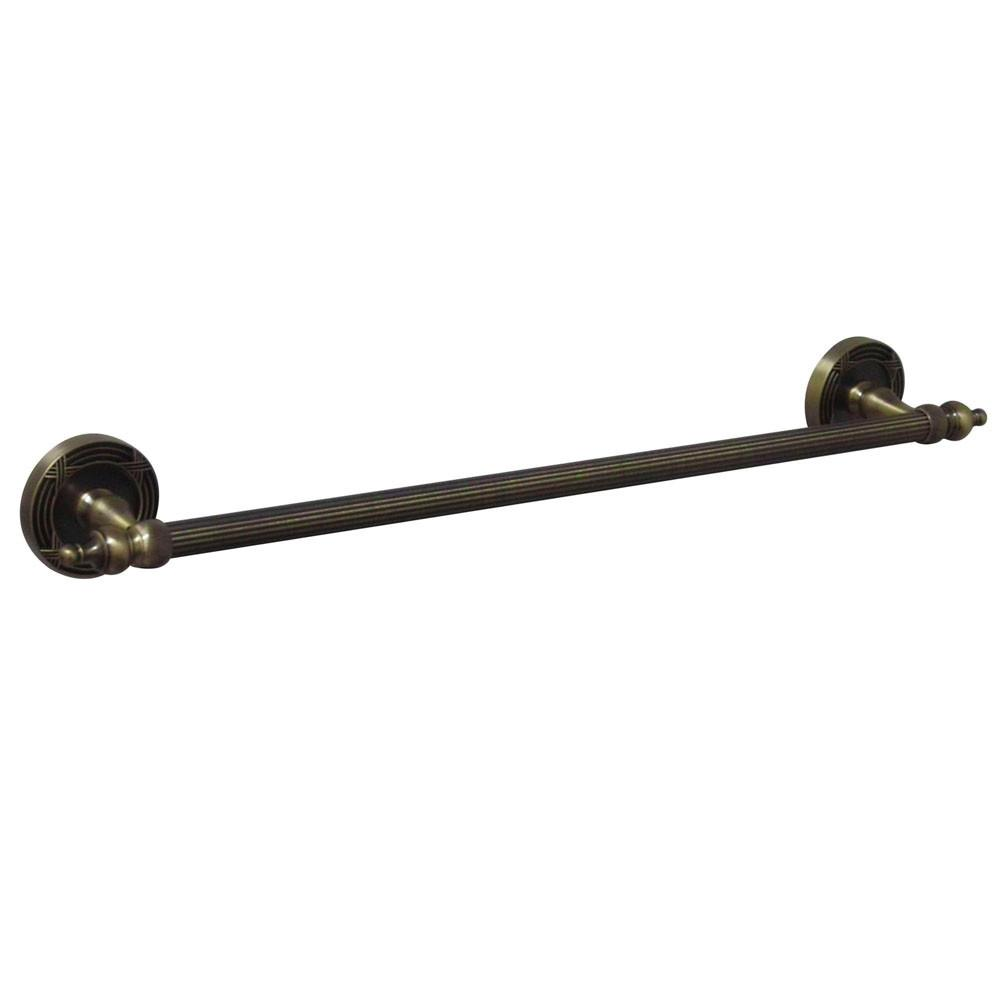 "Kingston Brass Antique Brass Templeton 24"" Single Towel Bar Rack BA9911AB"