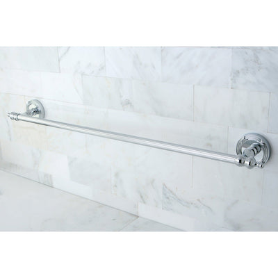 "Kingston Brass Chrome Templeton 24"" Single Towel Bar Rack BA9911C"