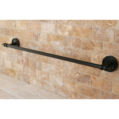 "Kingston Brass Oil Rubbed Bronze Templeton 24"" Single Towel Bar Rack BA9911ORB"