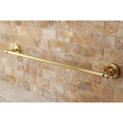 "Kingston Brass Polished Brass Templeton 24"" Single Towel Bar Rack BA9911PB"