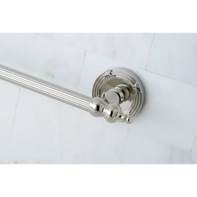 "Kingston Brass Polished Nickel Templeton 24"" Single Towel Bar Rack BA9911PN"