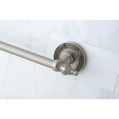 "Kingston Brass Satin Nickel Templeton 24"" Single Towel Bar Rack BA9911SN"