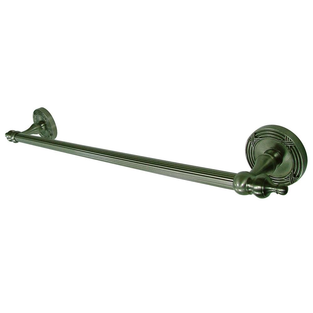 "Kingston Brass Satin Nickel Templeton 18"" Single Towel Bar Rack BA9912SN"