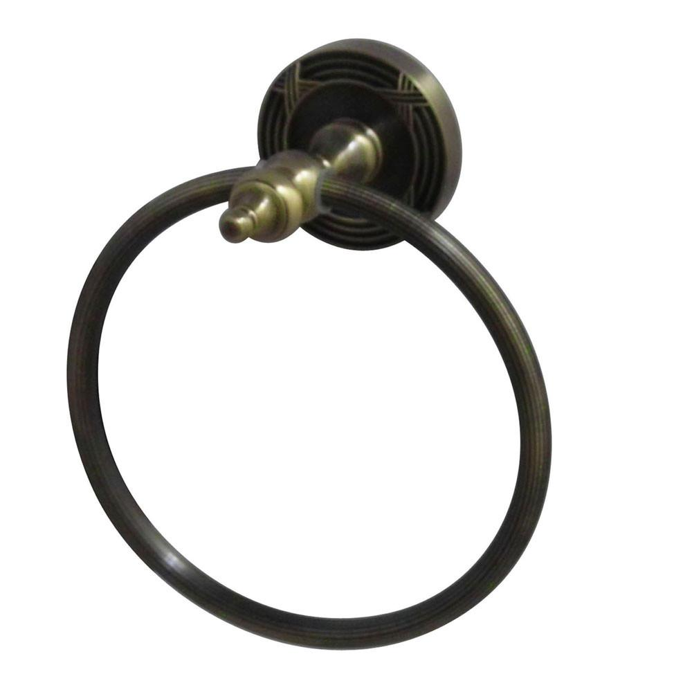 Kingston Brass Antique Brass Templeton Hand Towel Ring Rack BA9914AB