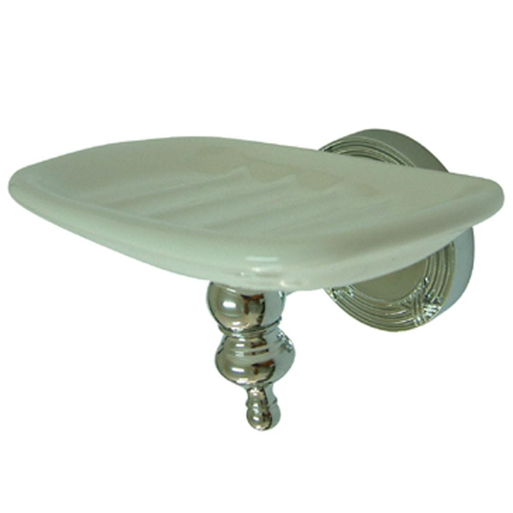 Kingston Brass Chrome Templeton Ceramic Wall Mounted Soap Dish BA9915C