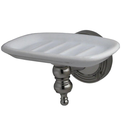 Kingston Brass Polished Nickel Templeton Ceramic Wall Mounted Soap Dish BA9915PN
