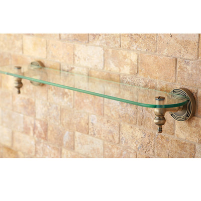 Kingston Brass Antique Brass Templeton Wall Mounted Glass Shelf BA9919AB