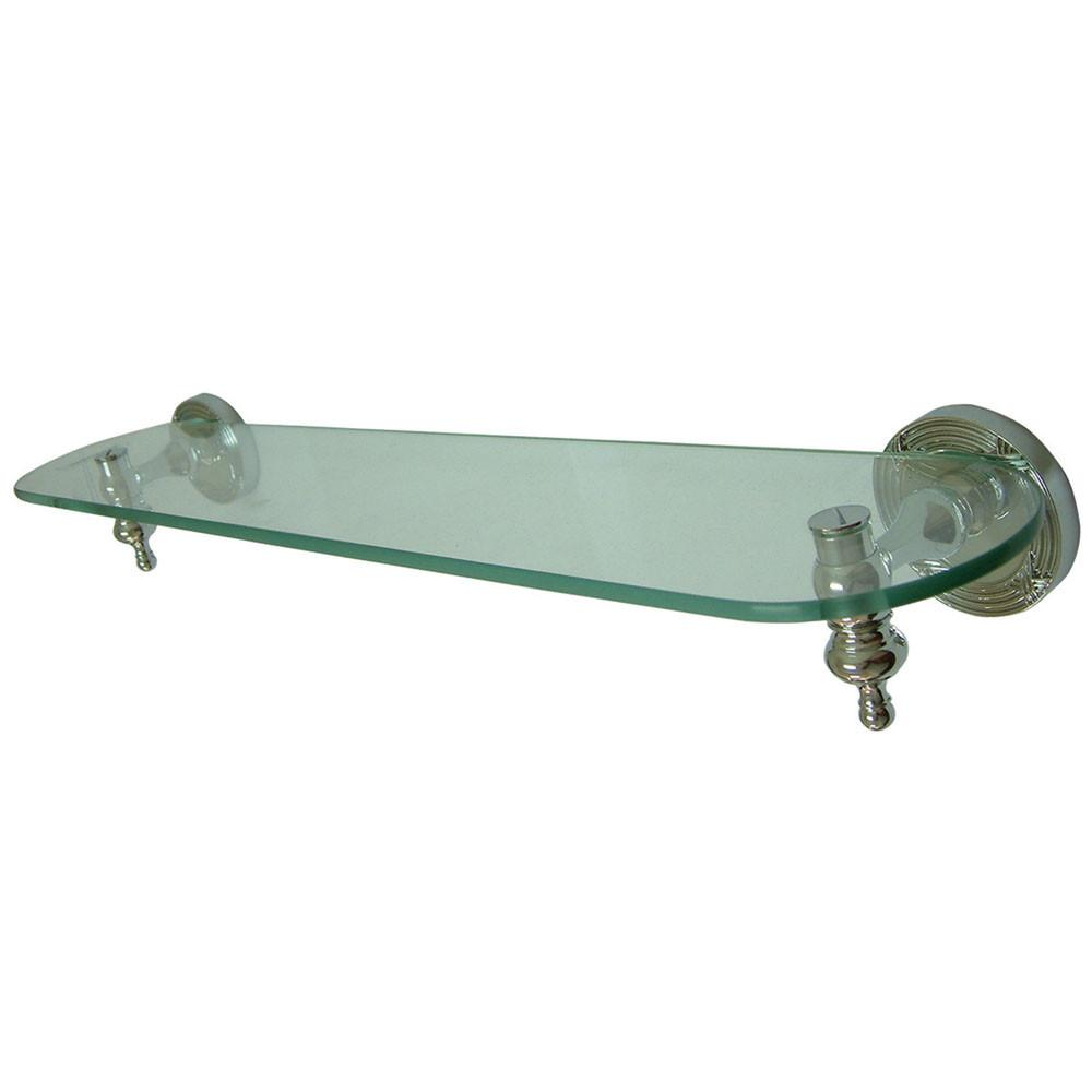 Kingston Brass Chrome Templeton Wall Mounted Glass Shelf BA9919C