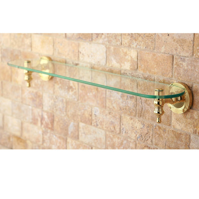 Kingston Brass Polished Brass Templeton Wall Mounted Glass Shelf BA9919PB