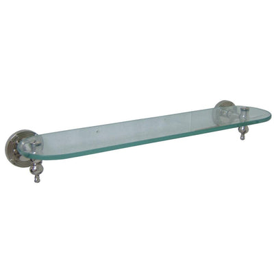 Kingston Brass Polished Nickel Templeton Wall Mounted Glass Shelf BA9919PN