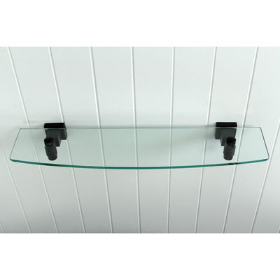 Kingston Tempered Bathroom Oil Rubbed Bronze Glass Shelf BAH4649ORB
