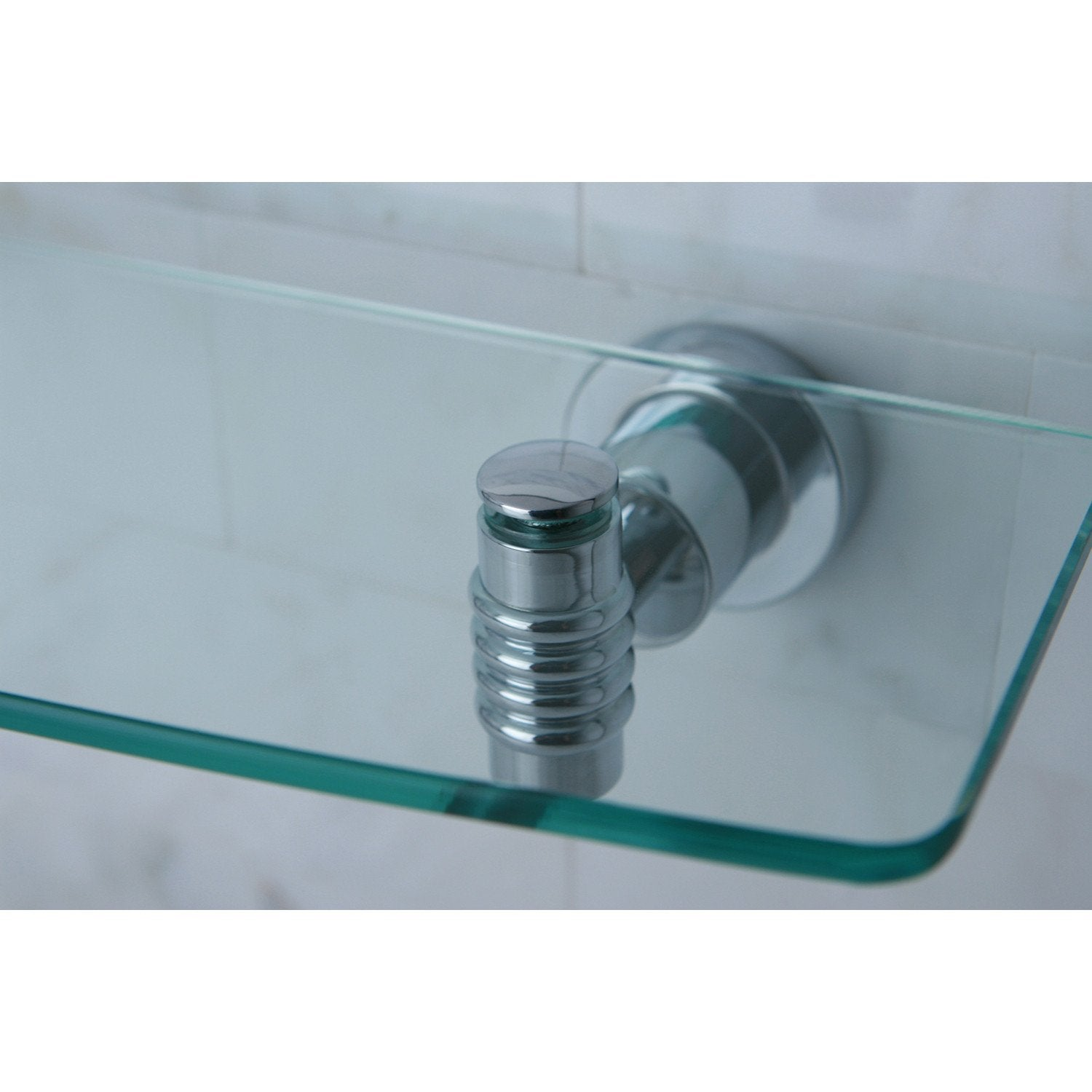Kingston Tempered Bathroom Glass Shelves Chrome Glass Shelf BAH8619C ...