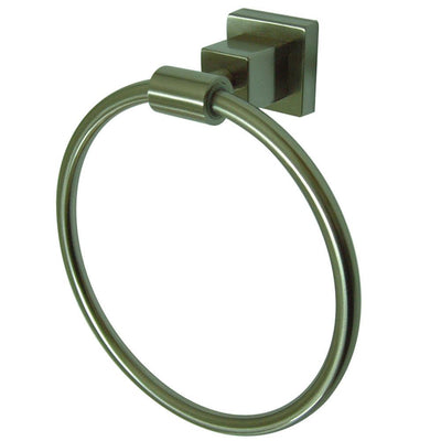 "Kingston Brass Claremont Satin Nickel 6"" Hand Towel Ring BAH8644SN"