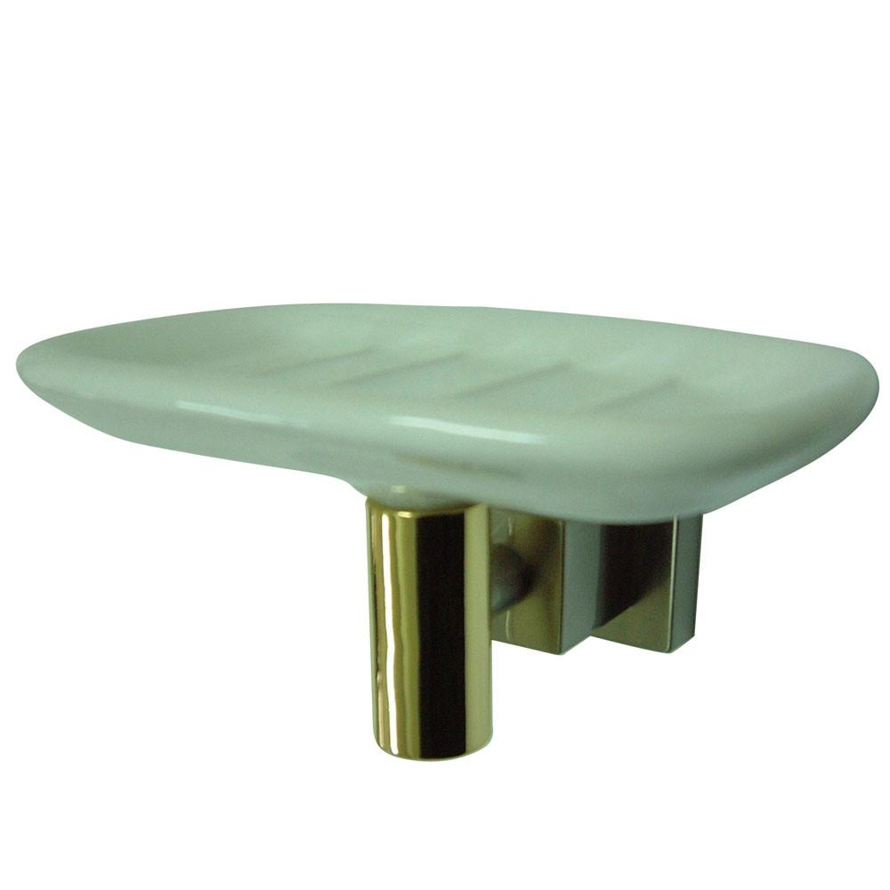 Kingston Brass Claremont Satin Nickel / Polished Brass Soap Dish BAH8645SNPB