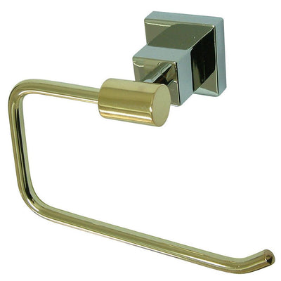 Kingston Claremont Chrome / Polished Brass Toilet Paper Holder BAH8648Z3CPB
