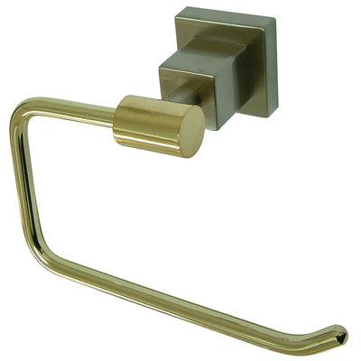 Kingston Claremont Satin Nickel Polished Brass Toilet Paper Holder BAH8648Z3SNPB