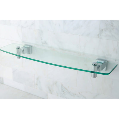 Kingston Brass Glass Shelves Claremont Chrome Glass Shelf BAH8649C