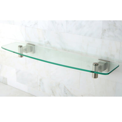 Kingston Brass Claremont Satin Nickel Glass Shelf BAH8649SN