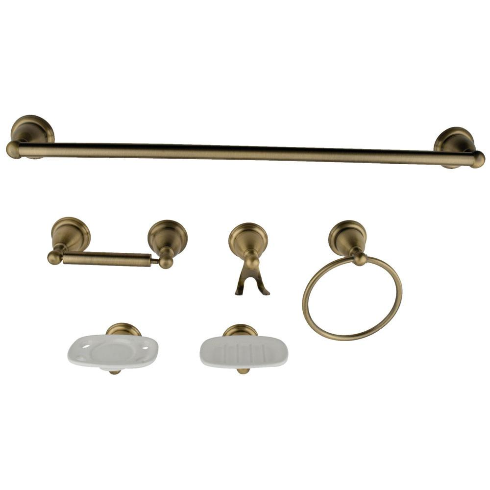 Accessories sets Vintage Brass Complete Bathroom accessory set ...