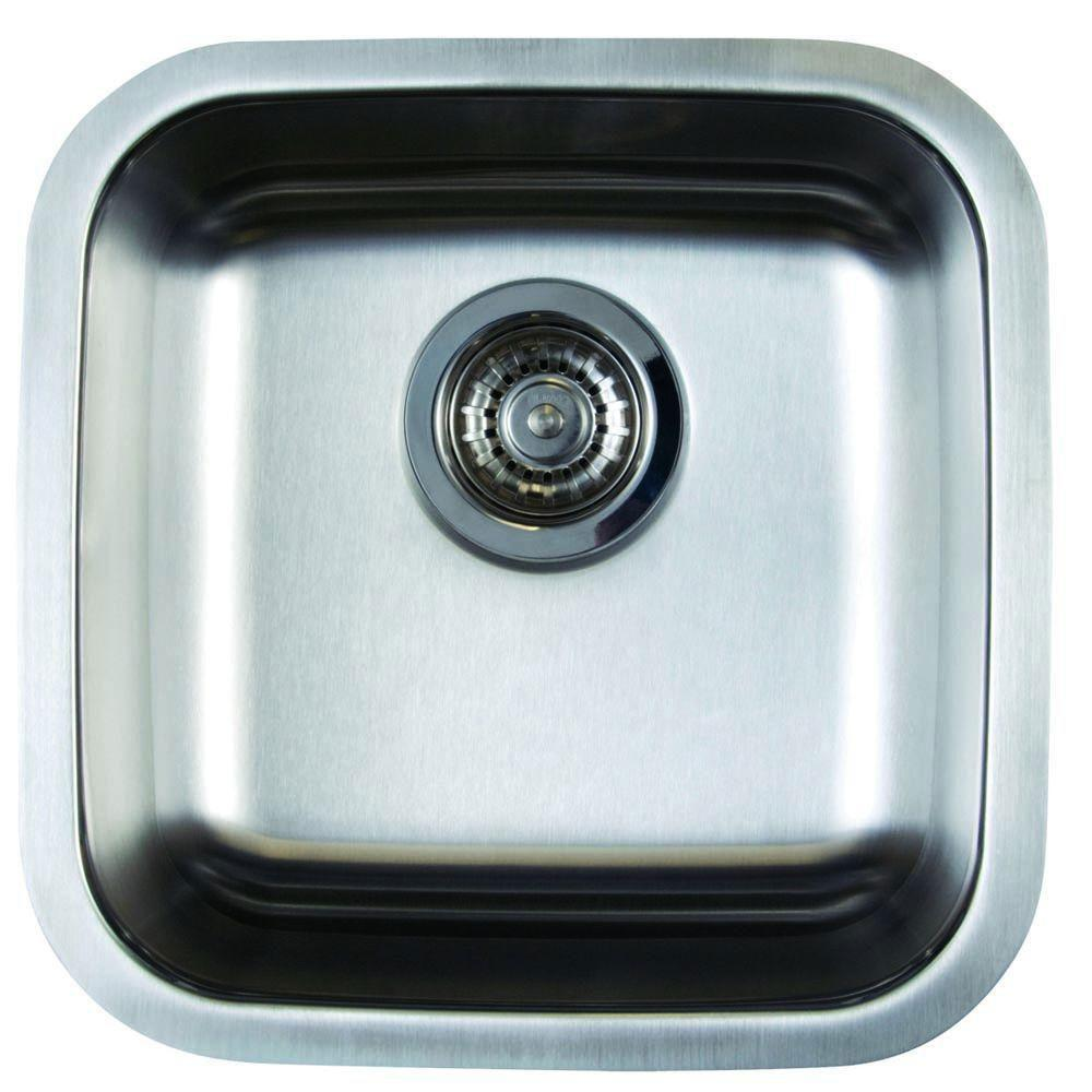 Blanco Stellar Undermount Stainless Steel 15 in x 15 in x 6.5 inch 0-Hole Single Bowl Bar Sink 464483