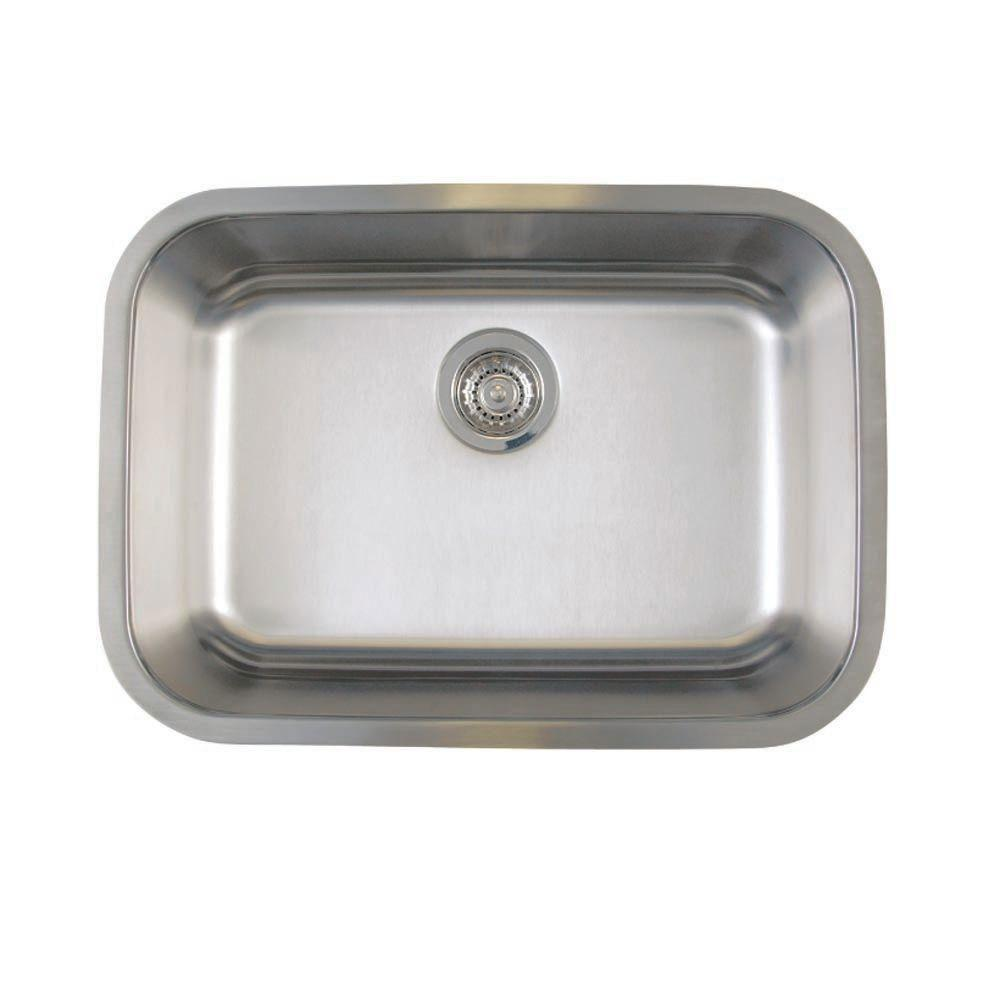 Blanco BL441025 Stellar Medium Single Bowl Undermount Sink, Refined Brushed 464485