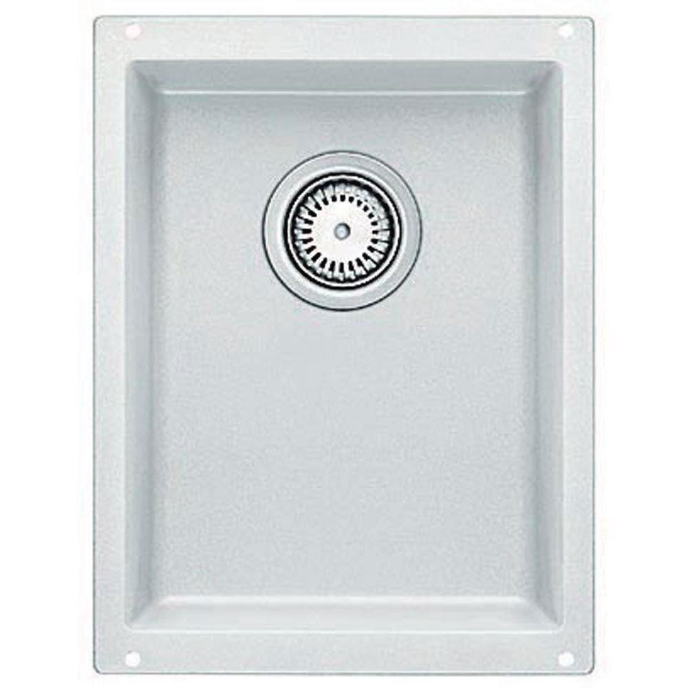 Blanco Precis Undermount Composite 13.37x18x7.5 0-Hole Single Bowl Kitchen Sink in White 467331