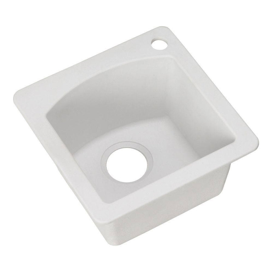 Delicieux Blanco Diamond Dual Mount Composite 15x15x8 1 Hole Single Bowl Bar Sink In  White 467332