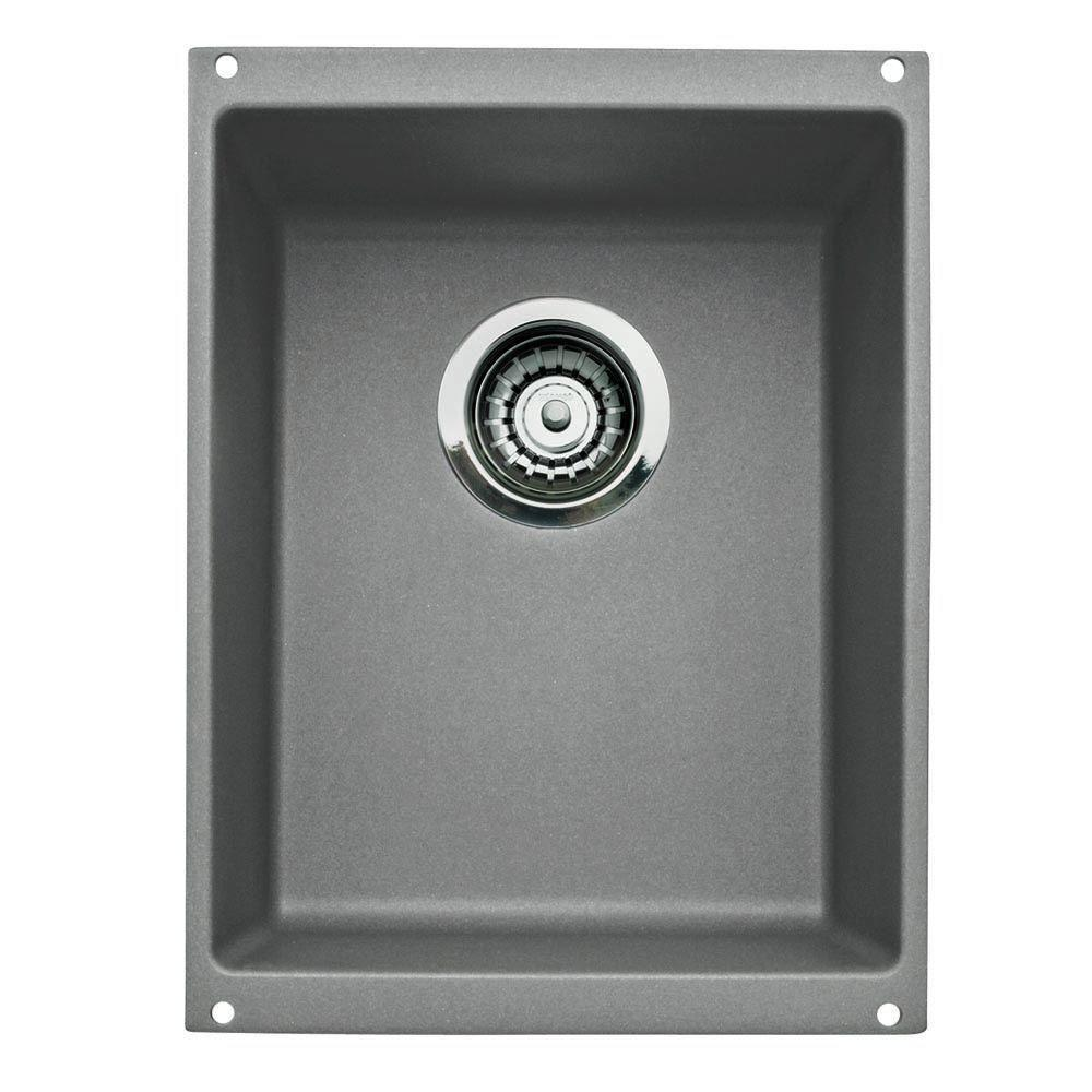 Blanco Precis Medium Bowl Undermount in Metallic Gray 478863