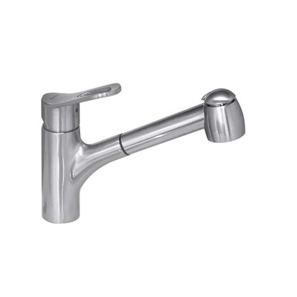 Blanco Aires II Single-Handle Kitchen Faucet with Pullout Spray in Satin Nickel 509518