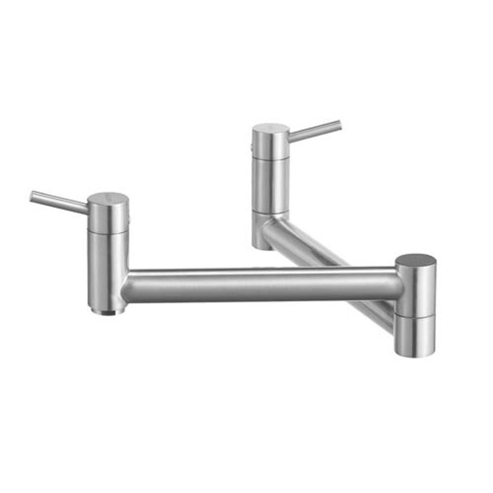 Blanco Cantata Wall-Mounted Pot Filler in Satin Nickel 509520