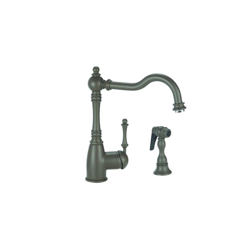 Blanco Grace Single-Handle Side Sprayer Kitchen Faucet in Cafe Brown 509546