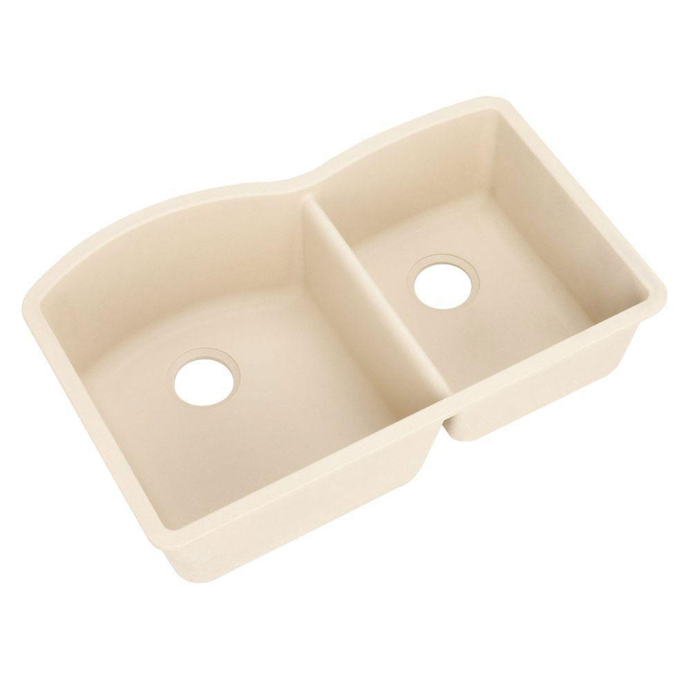 Blanco Diamond Undermount Composite 32x19x9.5 0-Hole Double Bowl Kitchen Sink in Biscotti 515311
