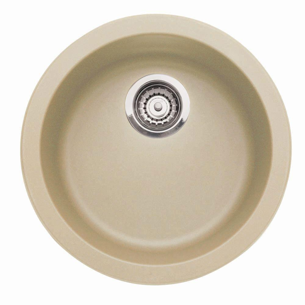 Blanco Rondo Dual-Mount Composite Single Bowl Bar Sink in Biscotti 524335