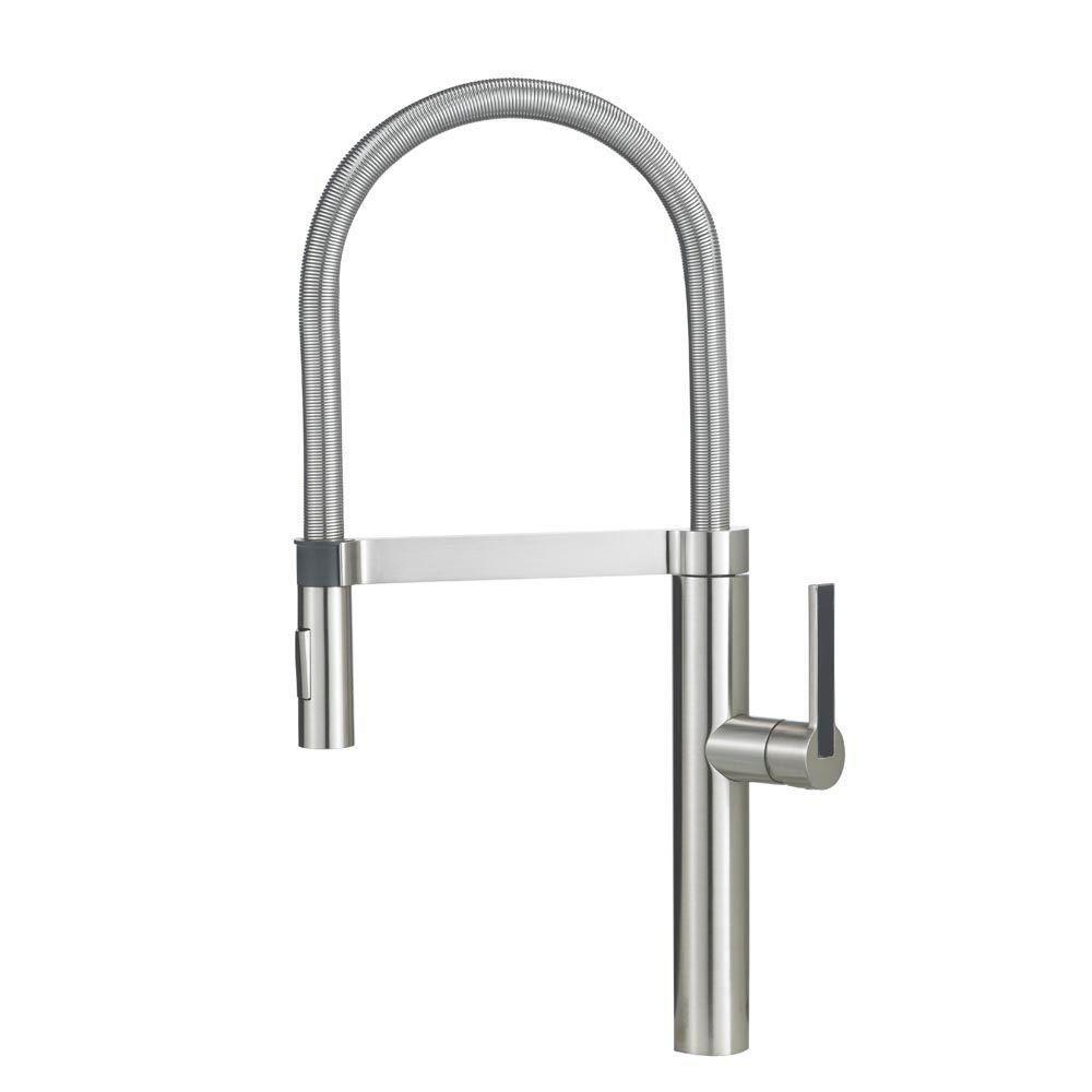 Blanco Culina Semi-Pro Single-Handle Kitchen Faucet in Stainless 538019