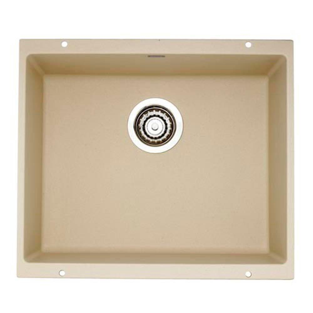 Blanco Precis Undermount Composite 20.75x 18x7.5 0-Hole Single Bowl Kitchen Sink in Biscotti 538023