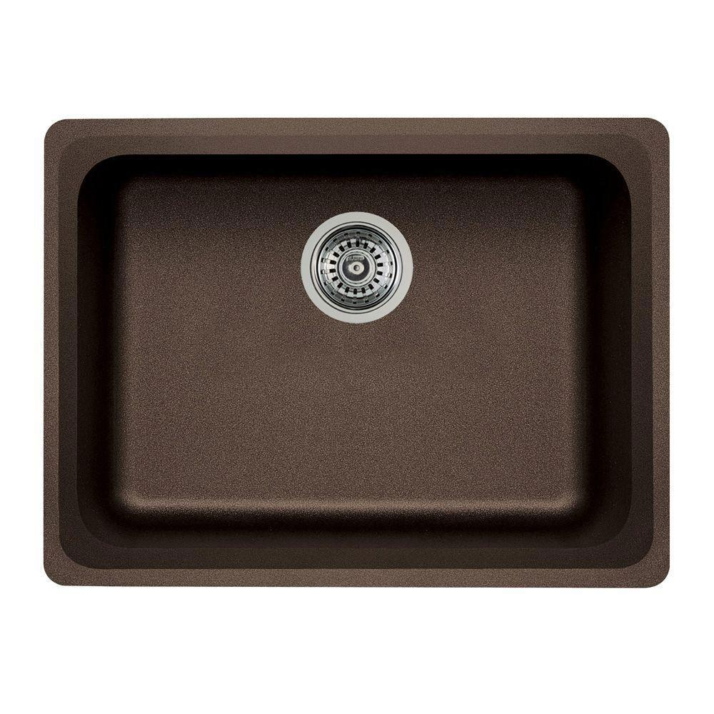 Blanco Vision Undermount Composite 24x18x8 0-Hole Single Bowl Kitchen Sink in Cafe Brown 573771