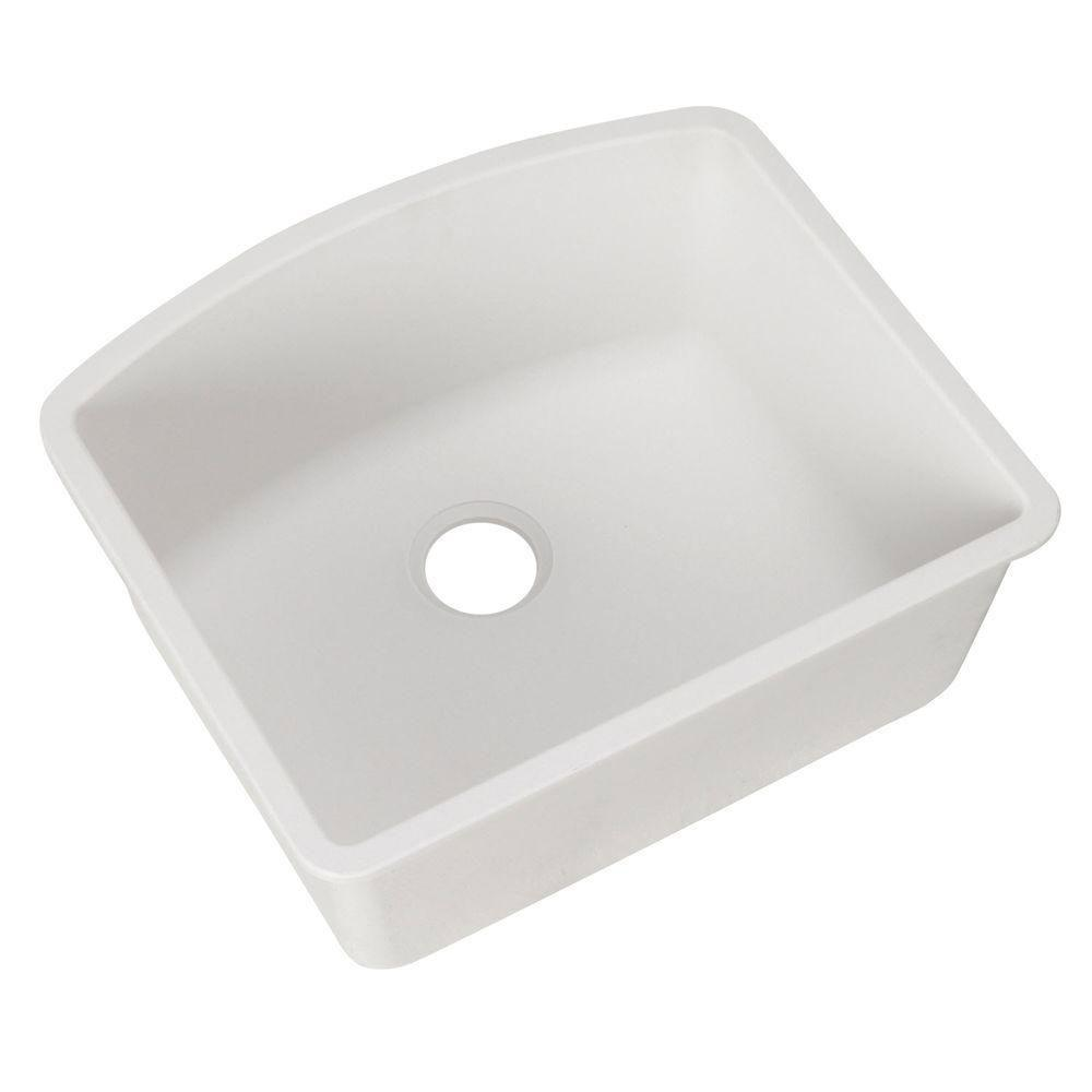 Blanco Diamond Undermount Composite 24x20.8x10 0-Hole Single Bowl Kitchen Sink in White 715717