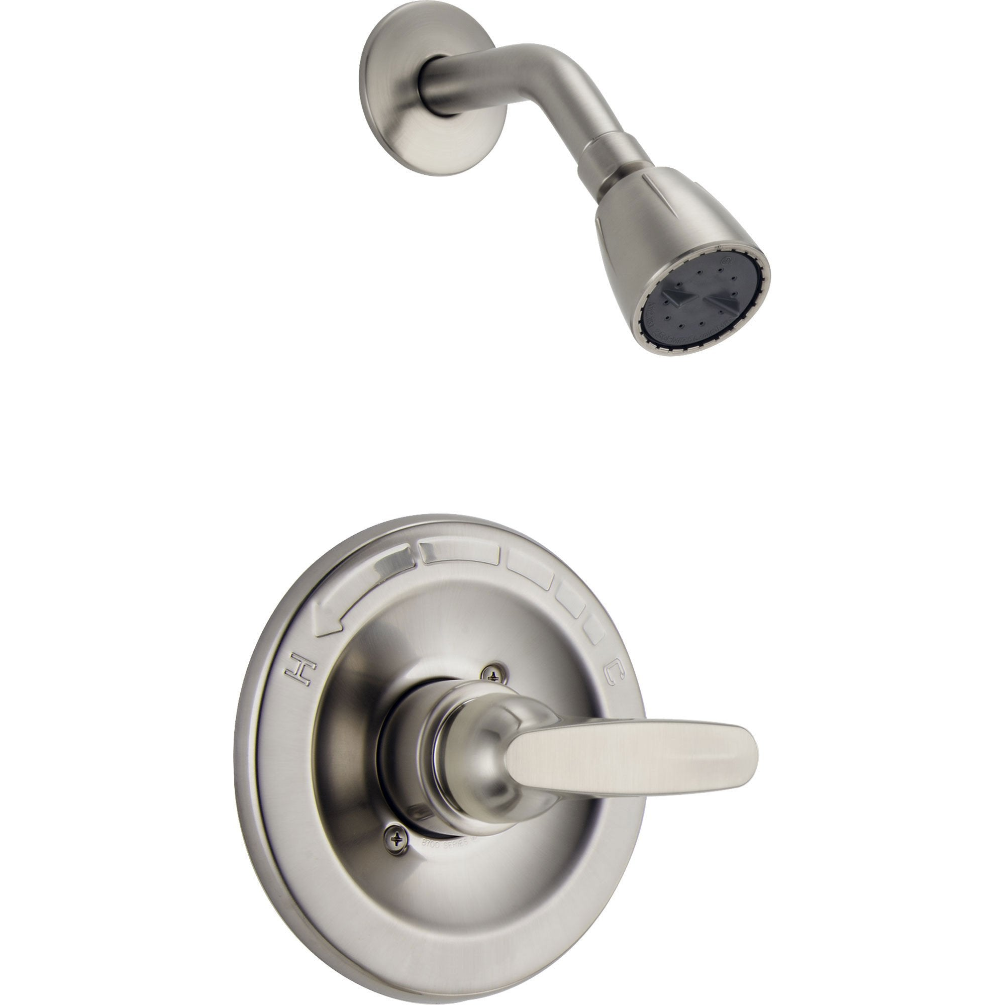 Delta Foundations Stainless Steel Finish Shower Only Faucet with Valve D666V