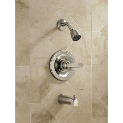 Delta Foundations Stainless Steel Finish Tub and Shower Faucet Trim Kit 550066