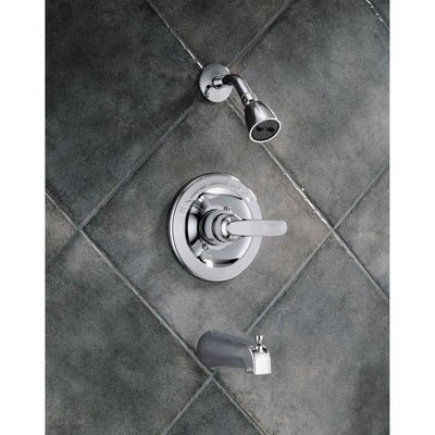 Delta Foundations Single Handle Chrome Tub and Shower Faucet with Valve D227V