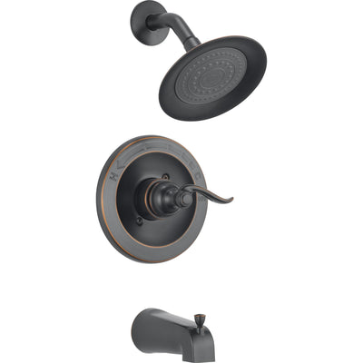 Delta Windemere Oil Rubbed Bronze Tub and Shower Combo Faucet with Valve D295V