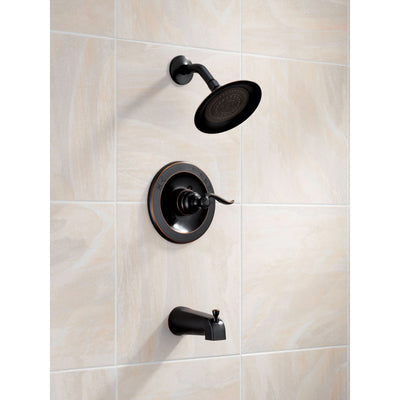 Delta Windemere Oil Rubbed Bronze Tub and Shower Combo Faucet with Valve D229V