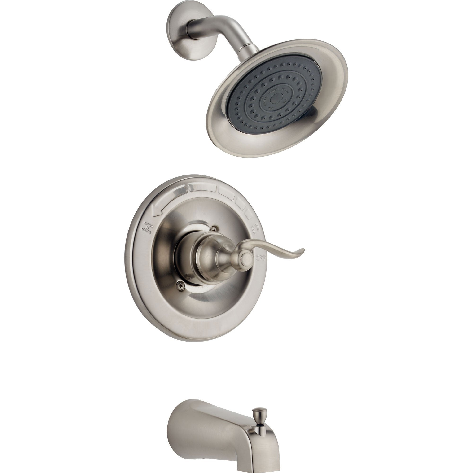 Delta Windemere Stainless Steel Finish Tub and Shower Combo Faucet Trim 517760