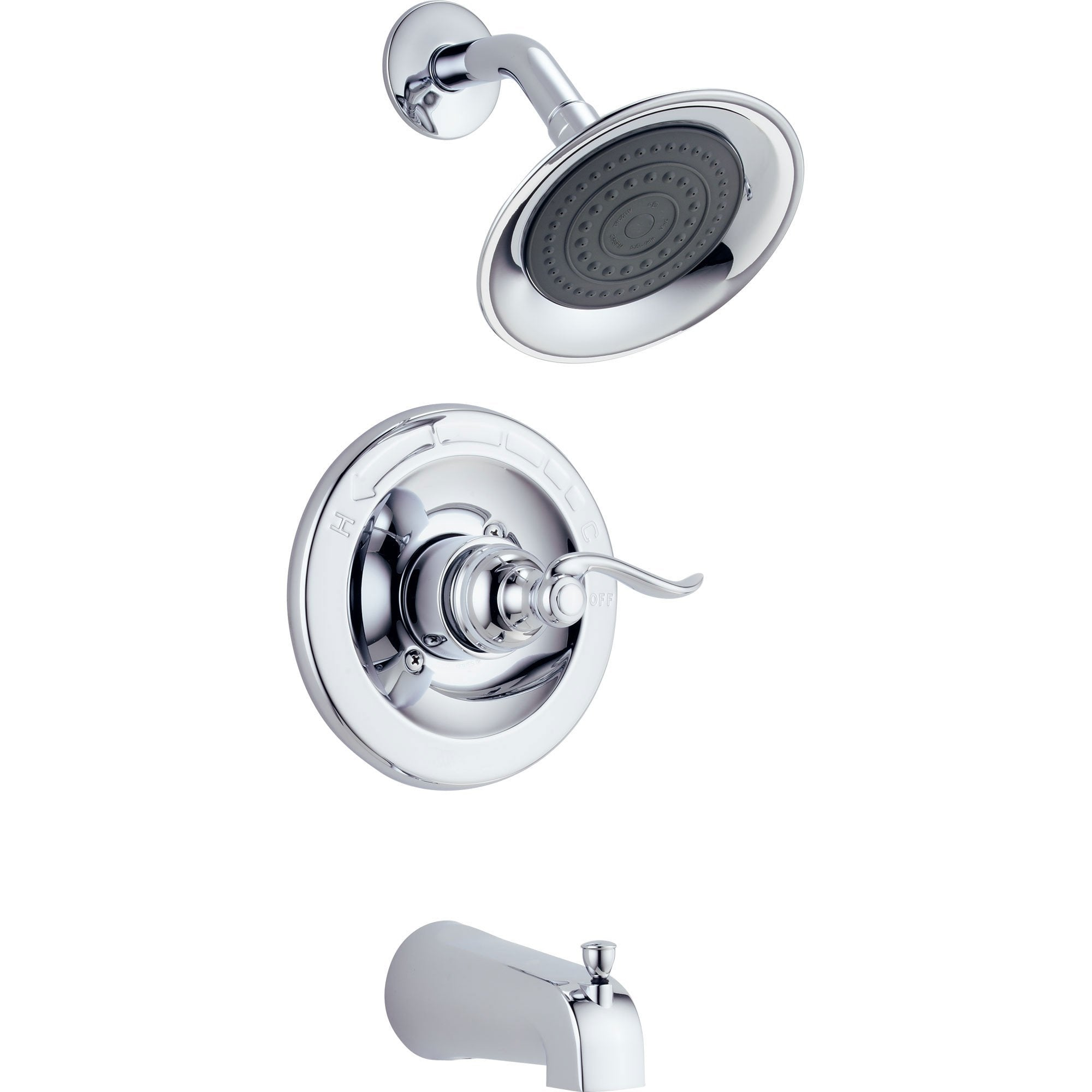 Delta Windemere Chrome Tub and Shower Combination Faucet Trim Kit 517758