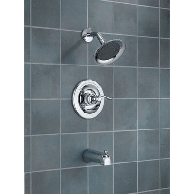 Delta Windemere Chrome Tub and Shower Combination Faucet Includes Valve D228V