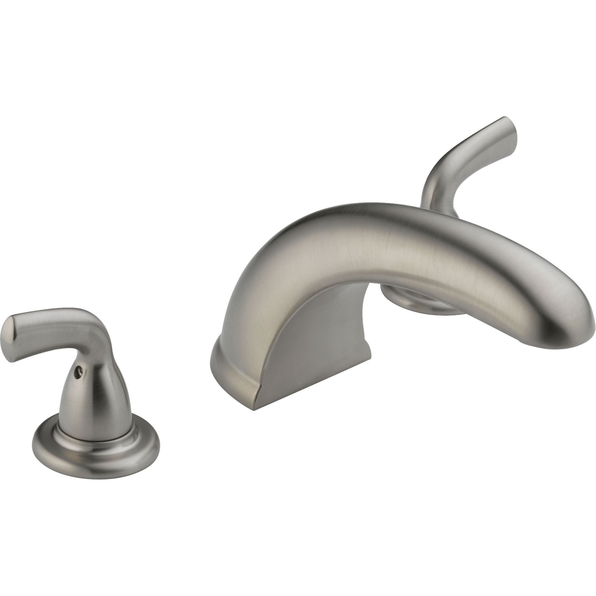 Delta Stainless Steel Finish Widespread Roman Tub Filler Faucet Trim Kit 550068